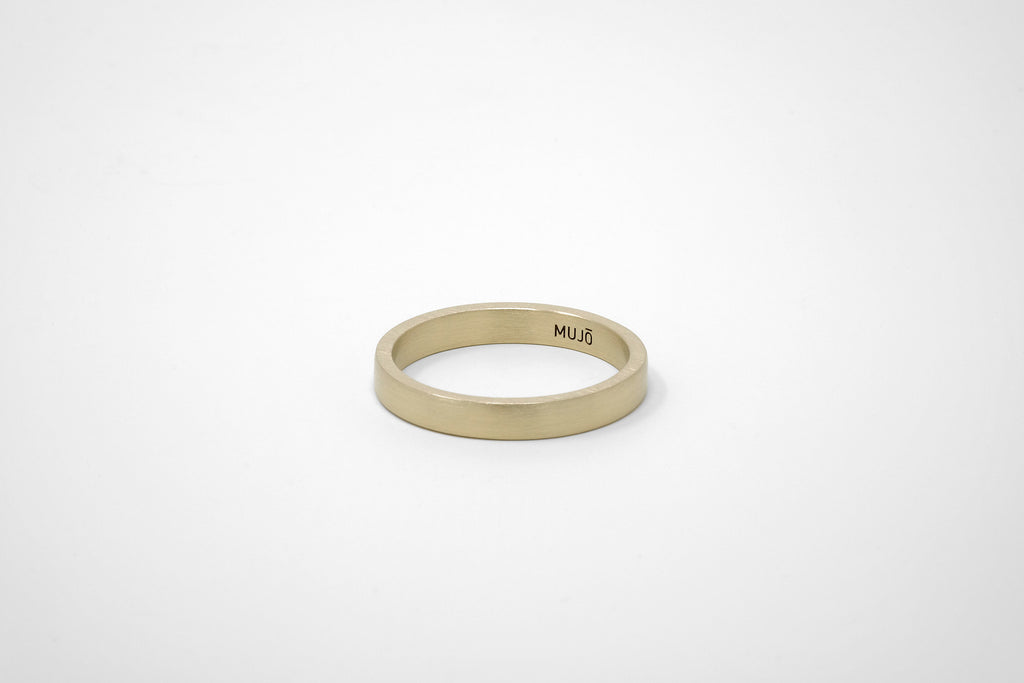 CS 4mm Band // Brass - Men's Ring - MUJO NYC - 1