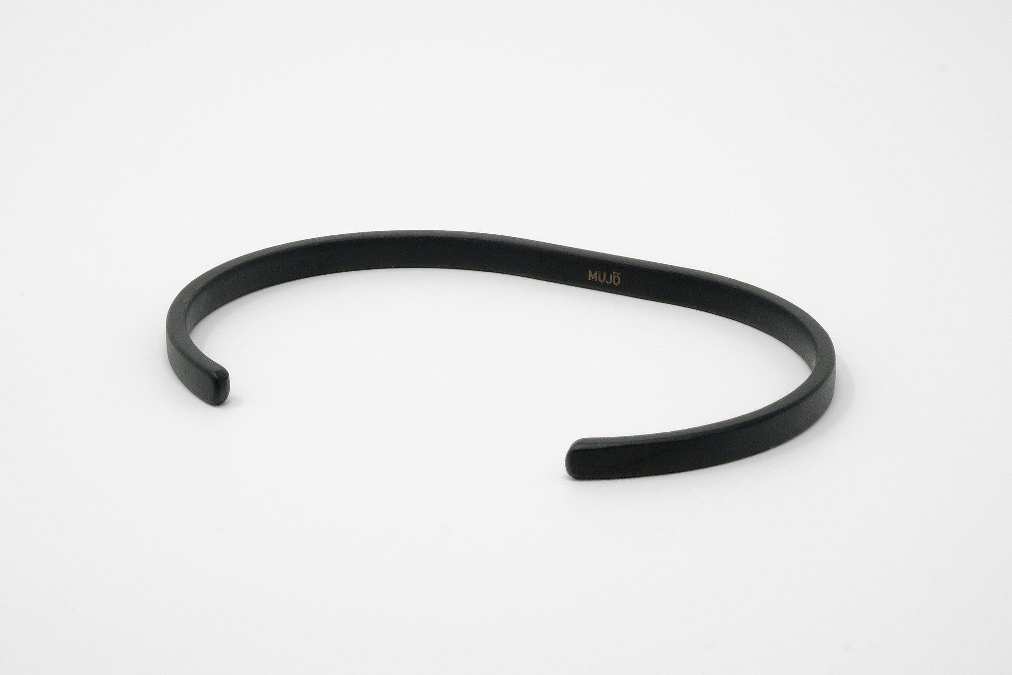 CS 4mm Cuff Bracelet // Matte Black - Men's Cuff Bracelet - MUJO NYC - 1