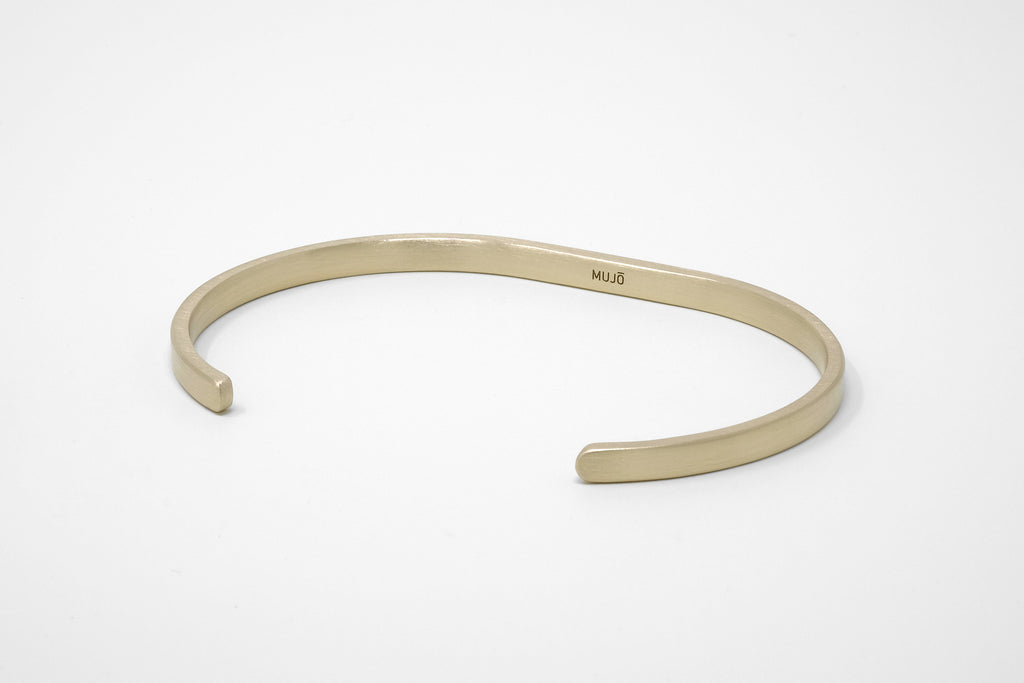 CS 4mm Cuff Bracelet // Brass - Men's Cuff Bracelet - MUJO NYC - 1