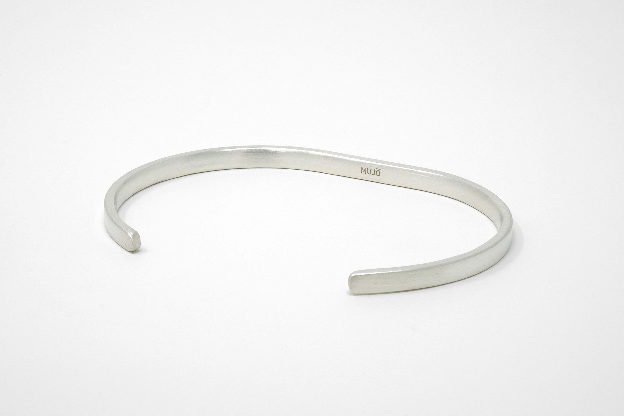 CS 4mm Cuff Bracelet // Sterling Silver - Men's Cuff Bracelet - MUJO NYC - 1