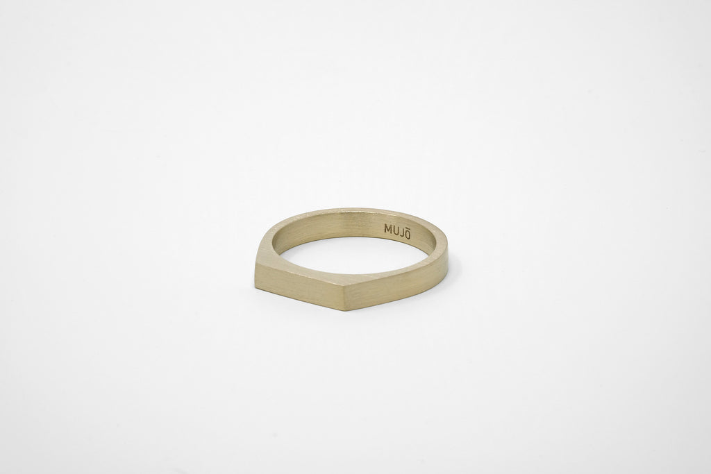 CS 4mm Signet Ring // Brass - Men's Ring - MUJO NYC - 1