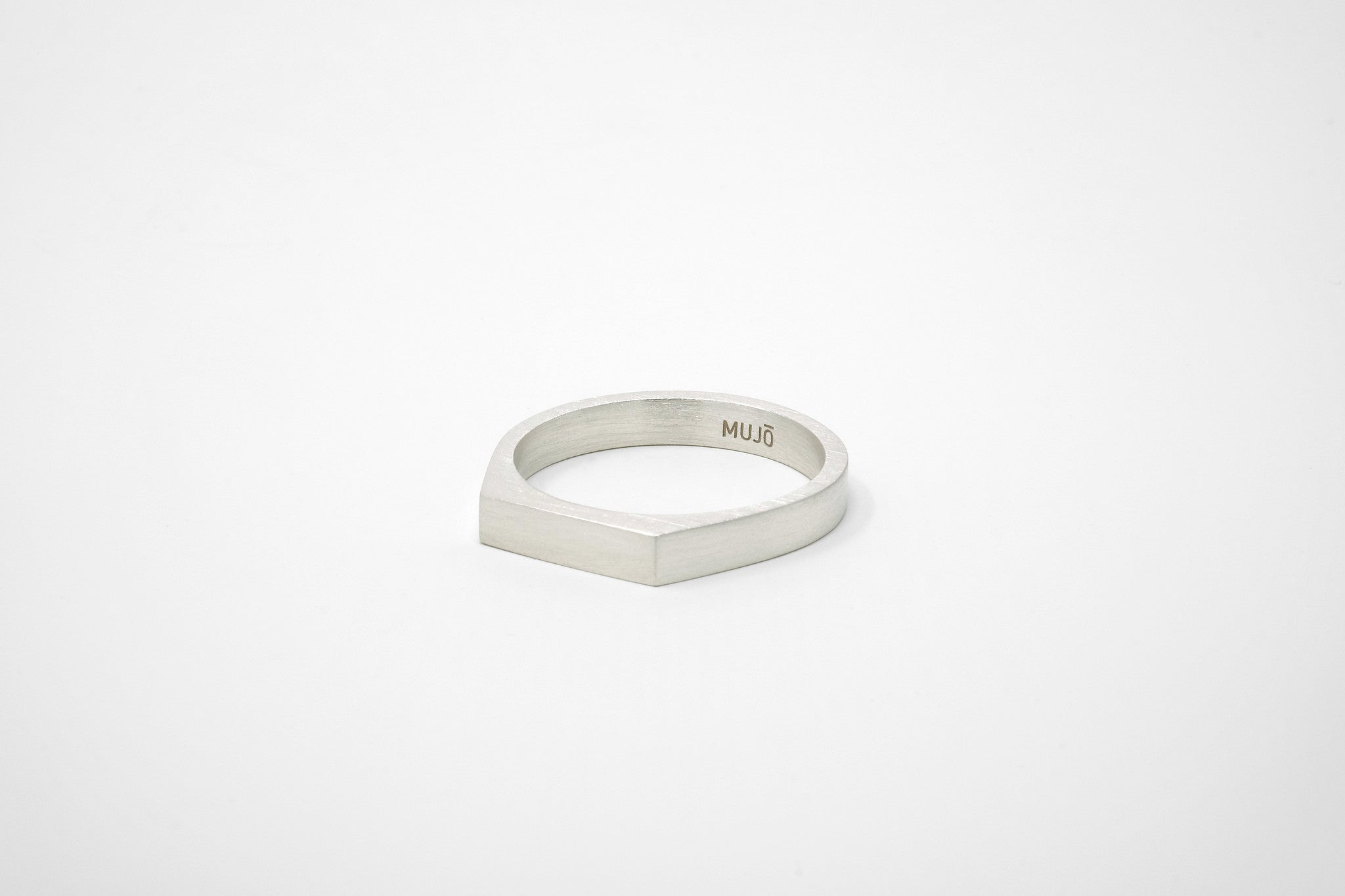 CS 4mm Signet Ring // Sterling Silver - Men's Ring - MUJO NYC - 1