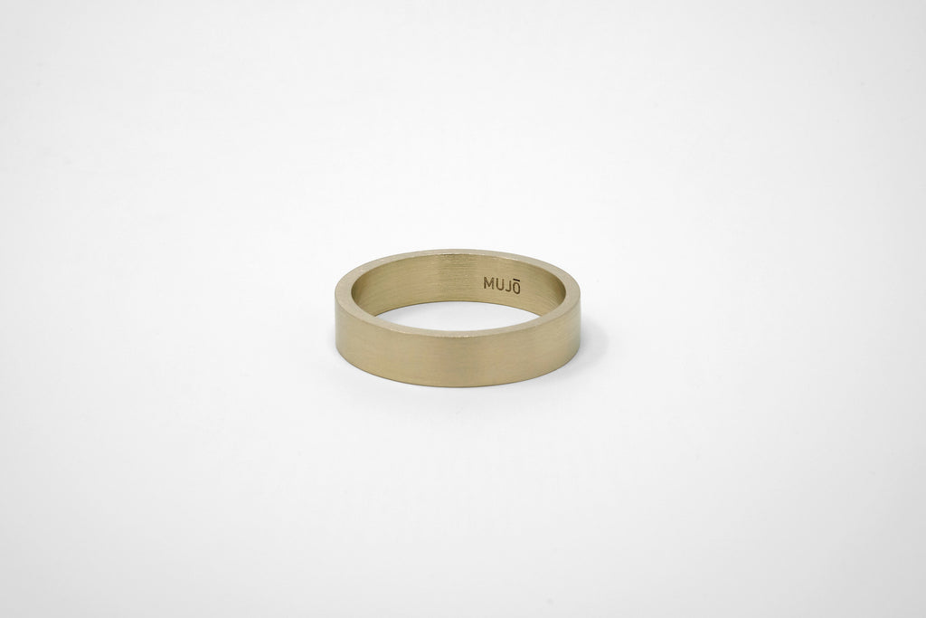 CS 6mm Band // Brass - Men's Ring - MUJO NYC - 1