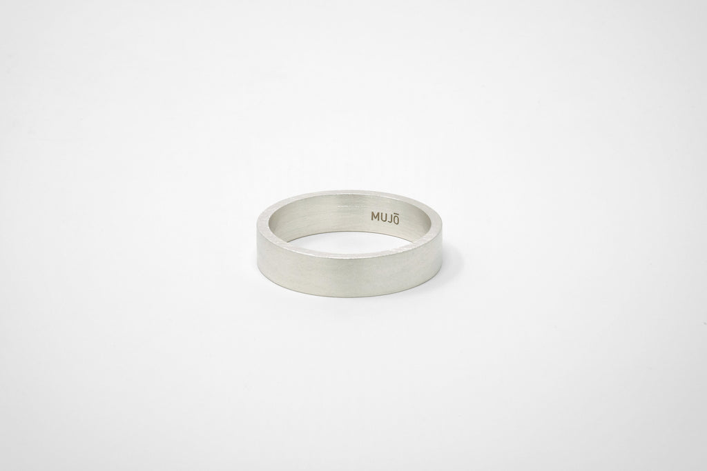 CS 6mm Band // Sterling Silver - Men's Ring - MUJO NYC - 1