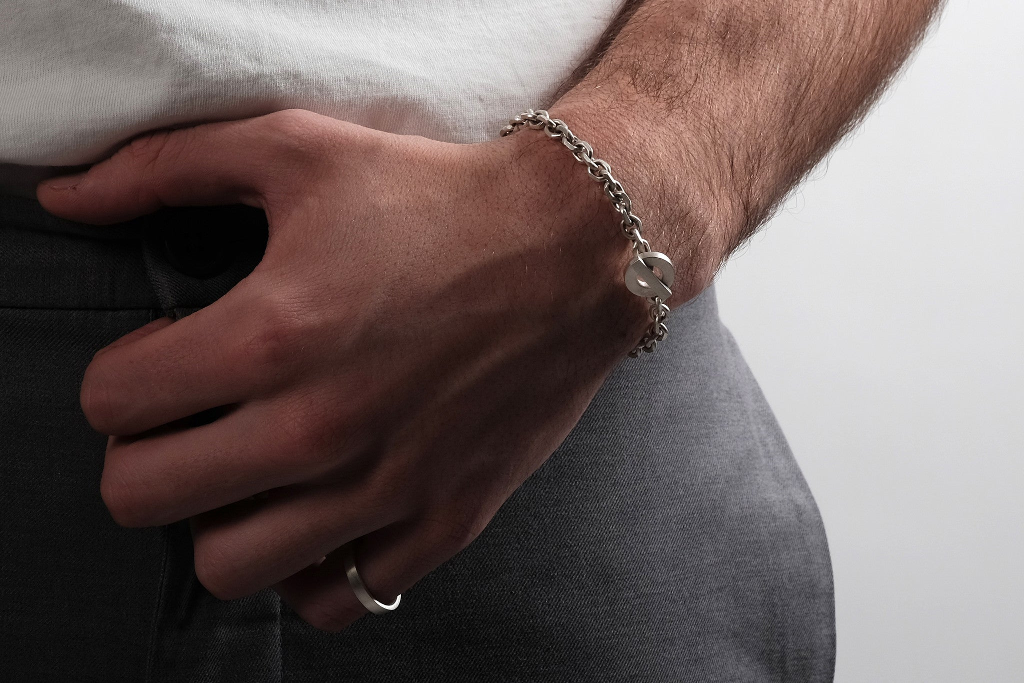 CS 6mm Chain Bracelet // Sterling Silver - Men's Chain Bracelet - MUJO NYC - 2