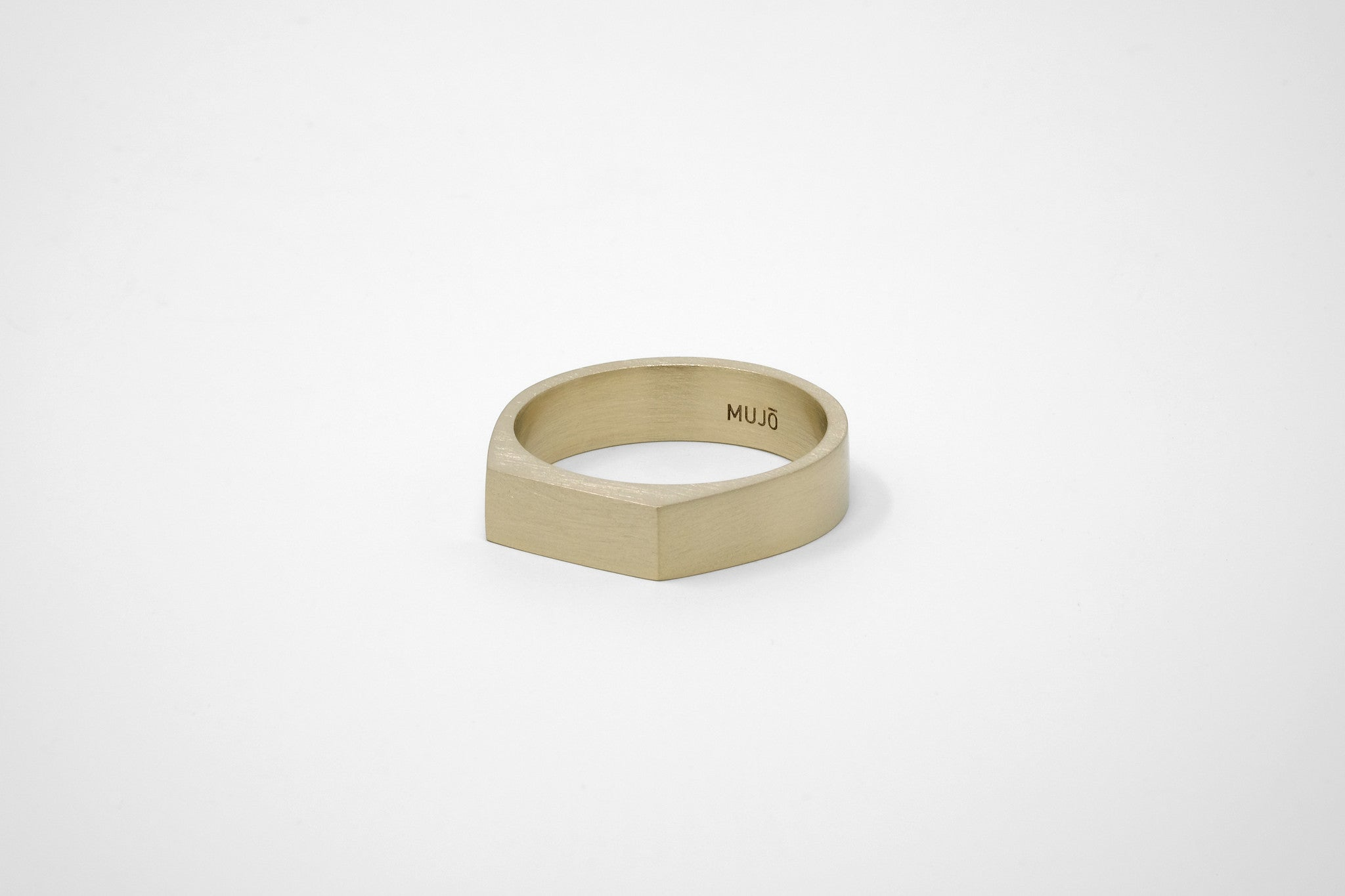 CS 6mm Signet Ring // Brass - Men's Ring - MUJO NYC - 1