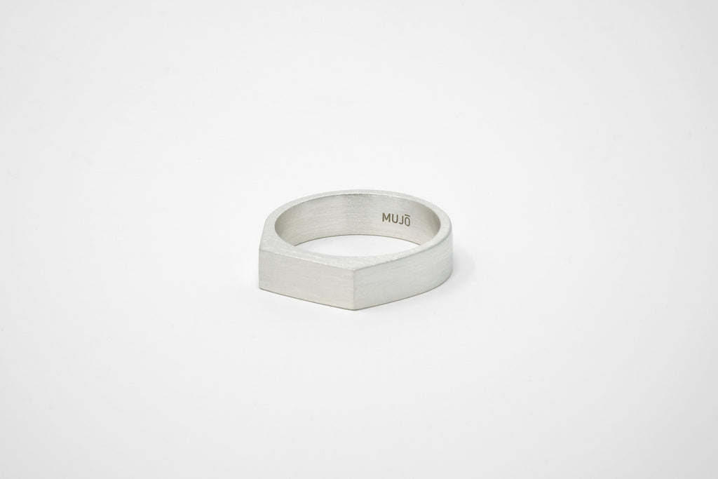 CS 6mm Signet Ring // Sterling Silver - Men's Ring - MUJO NYC - 1