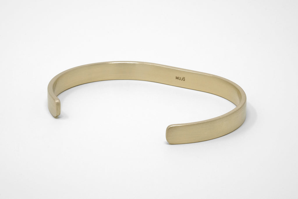 CS 8mm Cuff Bracelet // Brass - Men's Cuff Bracelet - MUJO NYC - 1