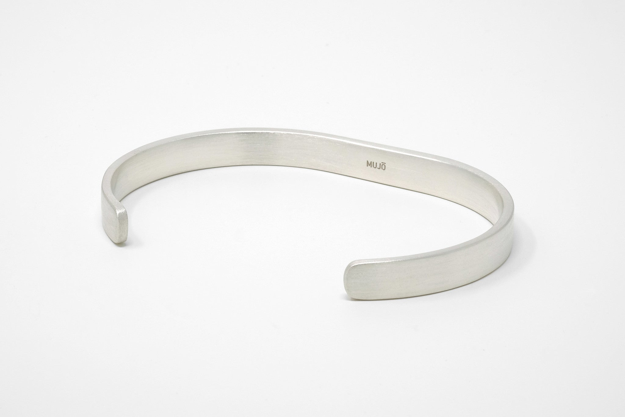CS 8mm Cuff Bracelet // Sterling Silver - Men's Cuff Bracelet - MUJO NYC - 1