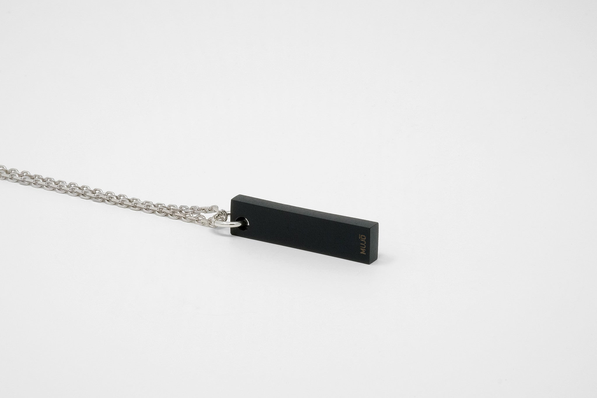 CS 8mm Pendant Necklace // Matte Black - Men's Pendant Necklace - MUJO NYC - 1