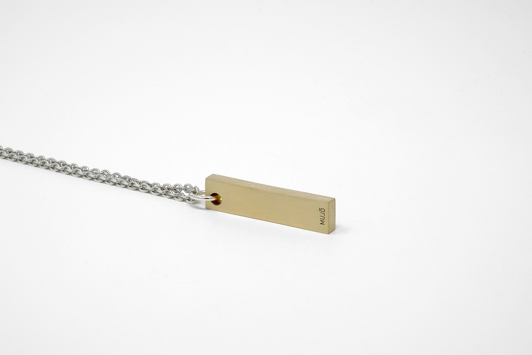 CS 8mm Pendant Necklace // Brass - Men's Pendant Necklace - MUJO NYC - 1