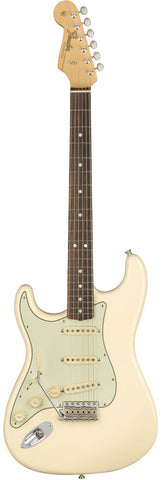 Fender American Original '60s Stratocaster Left Handed Rosewood Fingerboard Olympic White Electric Guitar 0110121805