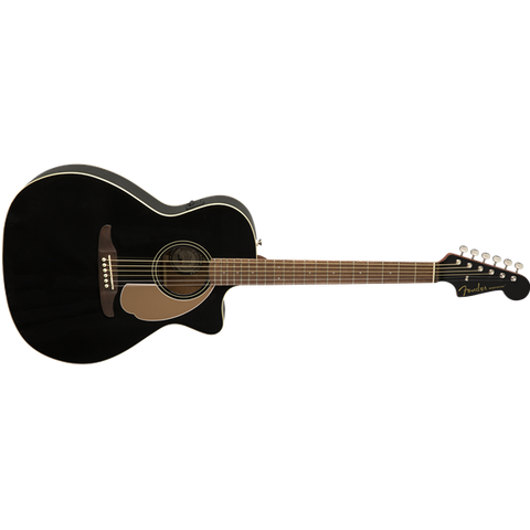 Fender California Series Newporter Player Acoustic Guitar Jetty Black 0970743006