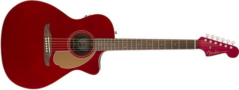 Fender California Series Newporter Player Acoustic Guitar Candy Apple Red 0970743009