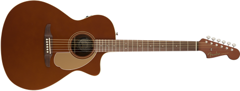 Fender California Series Newporter Player Acoustic Guitar Rustic Copper 0970743096