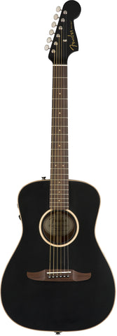 Fender California Series Malibu Special Acoustic Guitar Matte Black w/bag 0970822106