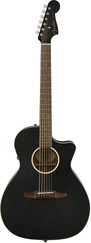 Fender California Series Newporter Special Acoustic Guitar Matte Black w/bag 0970843106