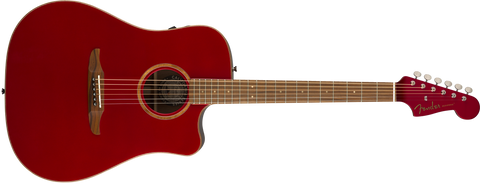 Fender California Series Redondo Classic Acoustic Guitar Hot Rod Red Metallic w/bag 0970913215