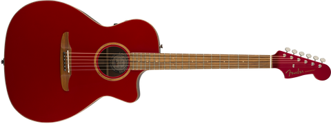 Fender California Series Newporter Classic Acoustic Guitar Hot Rod Red Metallic w/bag 0970943215