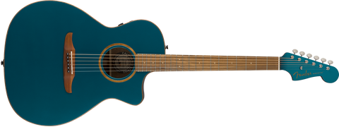 Fender California Series Newporter Classic Acoustic Guitar Cosmic Turquoise w/bag 0970943299