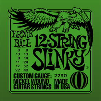 Ernie Ball P02230 12-String Slinky Electric Nickel Wound 8-40