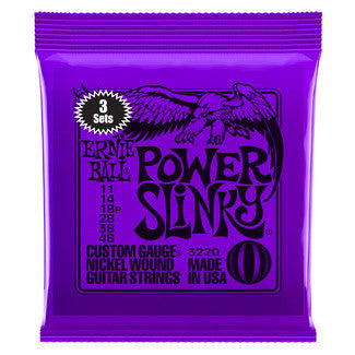 Ernie Ball P03220 Power Slinky Nickel Wound 3 Pack