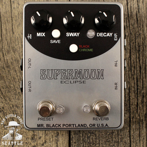 Mr. Black Supermoon Eclipse Stereo Reverb Pedal