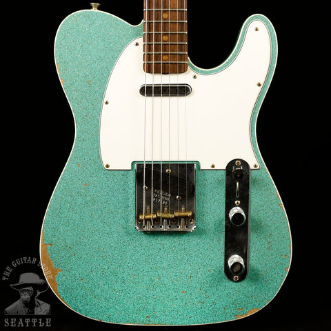 Fender Custom Shop '60s Relic Telecaster Custom Aged Sea Foam Sparkle 9235000691