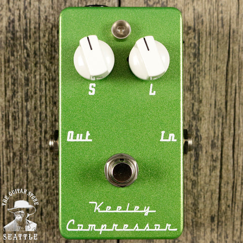 Keeley C2 Signature Two Knob Compressor Pedal Low Rider Green (White Knobs)