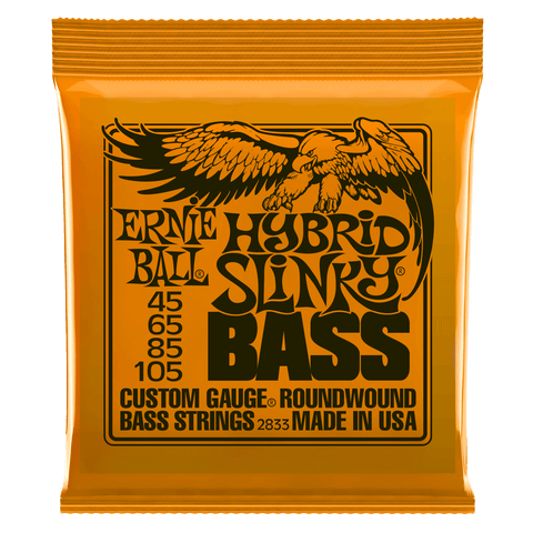 Ernie Ball P02833 Hybrid Slinky Slinky Nickel Wound Electric Bass Strings