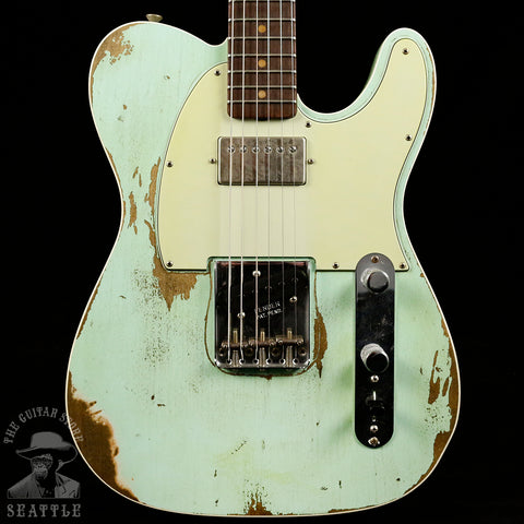 Fender Custom Shop 60s Super Faded Heavy Relic Telecaster Custom Aged Surf Green