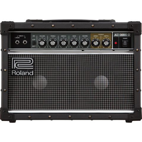 "Roland JC-22 Jazz Chorus 30W 2x6.5"" Combo Guitar Amplifier"