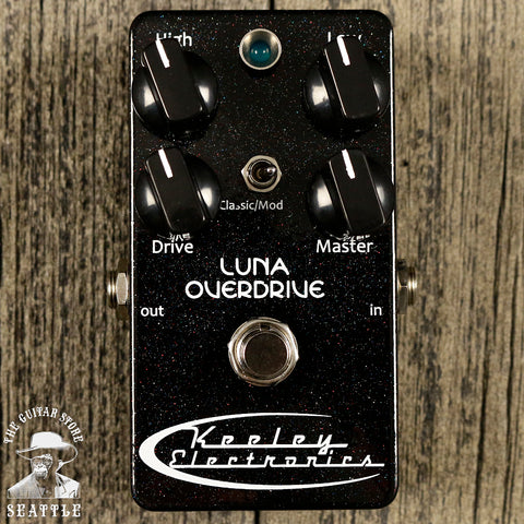 Keeley Luna Overdrive Pedal Black Sparkle