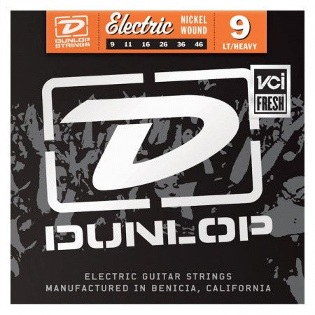 Dunlop Nickel Wound Electric Guitar Strings Light-Heavy 9-46