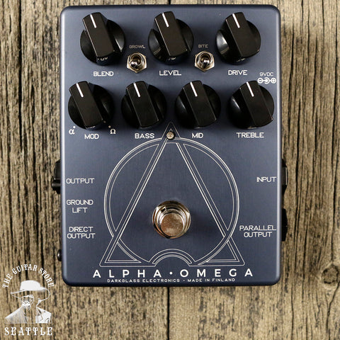 Darkglass Alpha Omega Dual Bass Preamp Overdrive Pedal