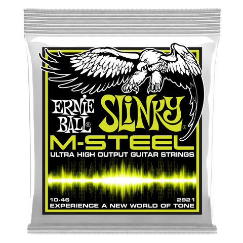 Ernie Ball Slinky M-Steel Ultra High Output Electric Guitar Strings 10-46