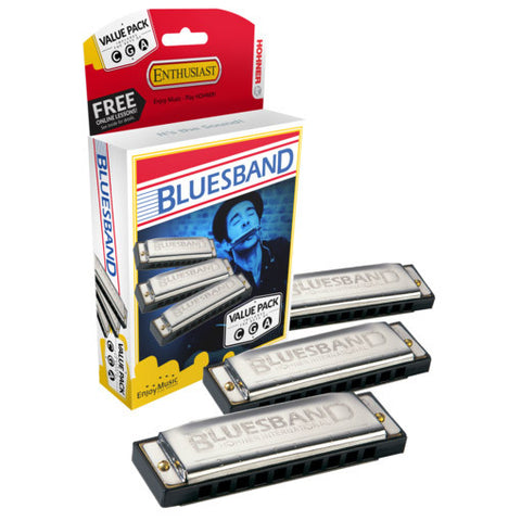 Hohner Blue Band Harmonica Value Pack