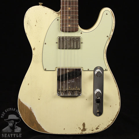 Fender Custom Shop 60s HB Telecaster Custom Heavy Relic Super Faded Aged Vintage White