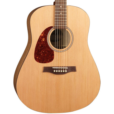 Seagull S6 Original Left-Handed Wild Cherry Cedar Natural Semi-Gloss Acoustic Guitar with Gig Bag