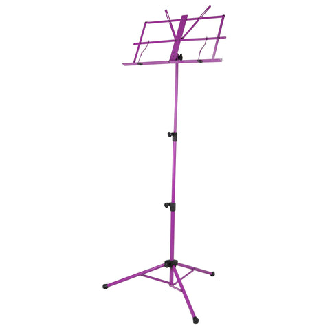 Strukture Deluxe Aluminum Music Stand Adjustable Tray Purple