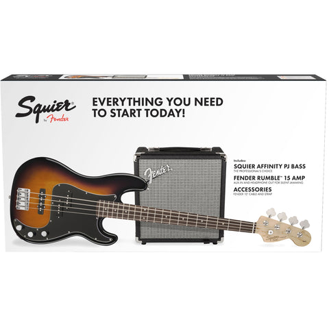 Squier Affinity Series Precision Bass PJ Pack Brown Sunburst 0301972032