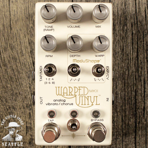 Chase Bliss Audio Warped Vinyl MKII Analog Vibrato & Chorus Pedal