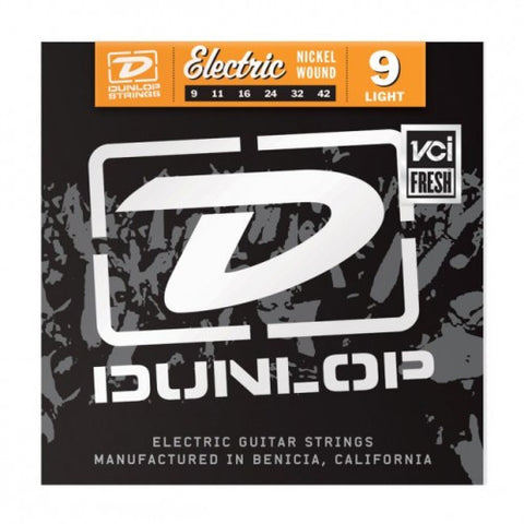 Dunlop Nickel Wound Electric Guitar Strings Light 9-42