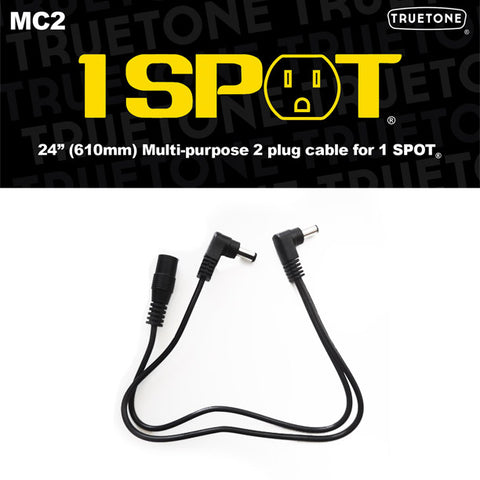 "Truetone 1 Spot MC2 24"" Extension 2 Plug Power Cable"