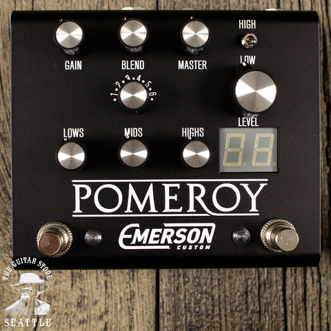 Emerson Custom Pomeroy Overdrive Pedal Black