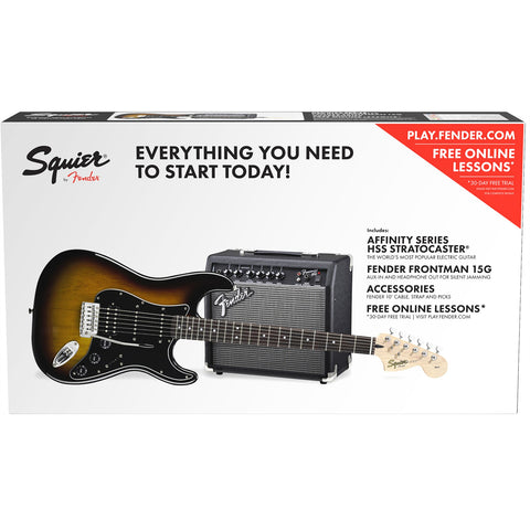 Squier Affinity Series Stratocaster HSS Pack Brown Sunburst 0301814032