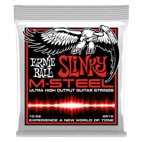 Ernie Ball Slinky M-Steel Ultra High Output Electric Guitar Strings 10-52