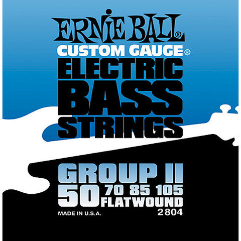Ernie Ball Group II Flatwound Electric Bass Strings 50-105