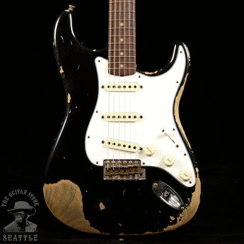 Fender Custom Shop 60s Super Faded Heavy Relic Stratocaster Aged Black