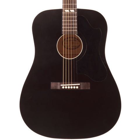 Recording King RDS-7 Dirty 30s Series 7 Dreadnought Whitewood Spruce Acoustic Guitar Matte Black
